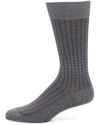 Pantherella - Gifford Mini Gingham Grid Socks - Lyst