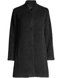 Eileen Fisher Alpaca & Wool Blend A-line Coat - Multicolour