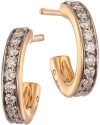 Pomellato - Iconica 18k Rose Gold & Diamond Small Hoop Earrings - Lyst