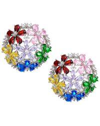 Fallon Florette Half-button Earrings - Multicolor