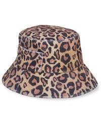 Lack of Color Wave Leopard-print Bucket Hat - Brown