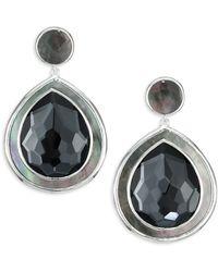 Ippolita - Ondine Sterling Silver, Black Shell & Hematite Doublet Large Snowman Earrings - Lyst