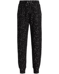 Terez Foil Printed Sweatpants - Black