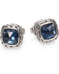 John Hardy - Classic Chain Sterling Silver Stud Earrings - Lyst