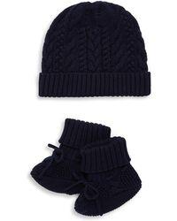 911168c3c2c03 Ralph Lauren - Baby s Two-piece Cotton Hat   Booties Set - Lyst
