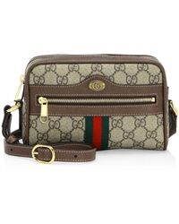 Gucci Ophidia Small GG Supreme Crossbody Bag - Brown