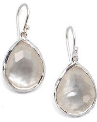 Ippolita - Women's Wonderland Mother-of-pearl, Clear Quartz & Sterling Silver Mini Doublet Teardrop Earrings - Silver - Lyst