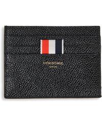 Thom Browne - Pebble-grain Leather Card Holder - Lyst