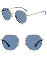 cbc5adcb9132 Fendi - 54mm Hexagonal Sunglasses - Lyst
