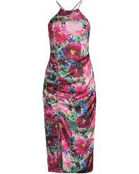 Parker Selena Floral Halter Dress - Multicolor