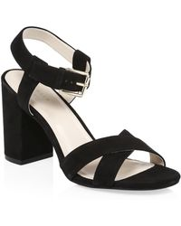 Cole Haan - Kadi Suede Ankle Strap Sandals - Lyst