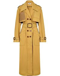 Fendi Belted Nylon Trench Coat - Yellow