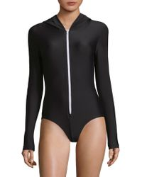 Cover - One-piece Hooded Swimsuit - Lyst