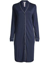 Hanro Natural Comfort Tailored Nightshirt - Blue