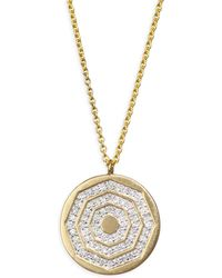 Phillips House - Diamond & 14k Yellow Gold Hero Disc Necklace - Lyst