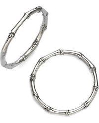 """John Hardy Bamboo Sterling Silver Hoop Earrings/1.25"""" - Metallic"""