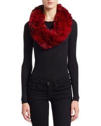 Saks Fifth Avenue - Knit Chinchilla Scarf - Lyst