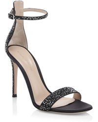 Gianvito Rossi - Silk Crystal Ankle-strap Sandals - Lyst