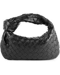 Bottega Veneta Mini Jodie Leather Hobo Bag - Black