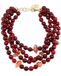 Nest - Horn & Quartz Statement Necklace - Lyst
