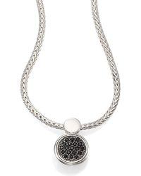 John Hardy - Dot Black Sapphire & Sterling Silver Lava Round Pendant Necklace - Lyst