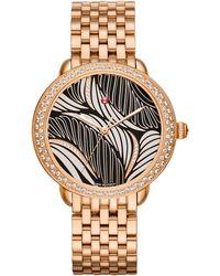 Michele Watches - Serein 16 Willow Diamond & 18k Rose Gold Bracelet Watch - Lyst