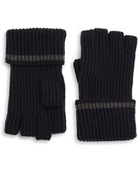 Saks Fifth Avenue - Collection Modern Tipping Fingerless Gloves - Lyst