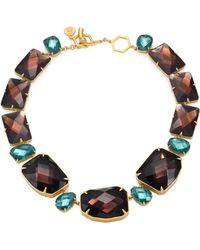 Tory Burch - Crystal Stone Statement Necklace - Lyst
