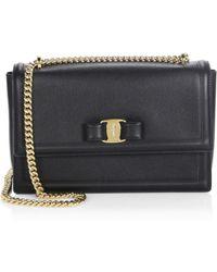 2f0a63fe776e Ferragamo - Women s Medium Ginny Leather Shoulder Bag - Macadamia - Lyst