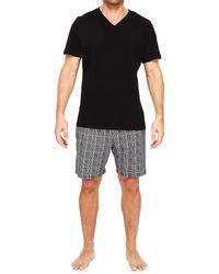 Hom Vincent 2-piece T-shirt & Shorts Pajama Set - Black