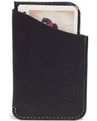 Robert Graham Vincent Printed Leather Slider Wallet - Black