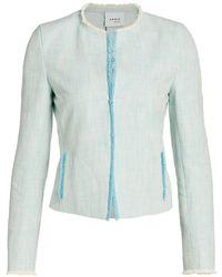 Akris Punto Fringe-trimmed Jacket - Blue