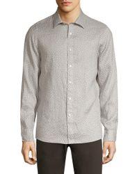 Michael Kors - Printed Linen Button-down Shirt - Lyst