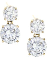 Adriana Orsini - 18k Goldplated Sterling Silver Double Round Stud Earrings - Lyst