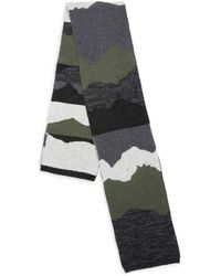Bickley + Mitchell Camouflage Wool & Nylon Scarf - Multicolor