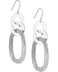 Ippolita - Glamazon Sterling Silver Roma Link Triple Oval Drop Earrings - Lyst