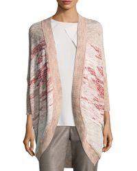 St. John - Ombre Textured Jacquard Knit Cardigan - Lyst