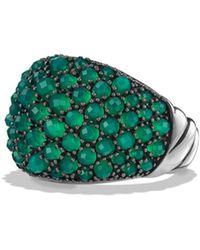 David Yurman - Osetra Dome Ring With Green Onyx - Lyst