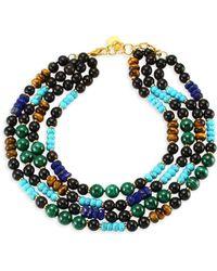 Nest - Malachite, Turquoise, Lapis & Horn Collar Necklace - Lyst