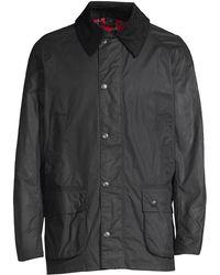 Barbour Bristol Waxed Cotton Jacket - Blue