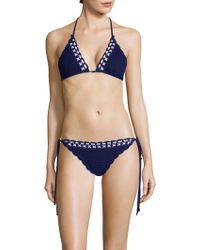 Shoshanna - Crochet Bikini Top - Lyst