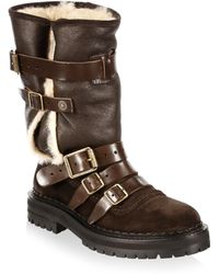 Burberry Fitzgerald Shearling Weather Boot - Brown