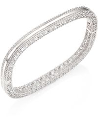 Roberto Coin - Princess 18k White Gold Bangle Bracelet - Lyst