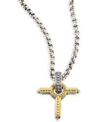 Konstantino - Gaia Cross Pendant - Lyst