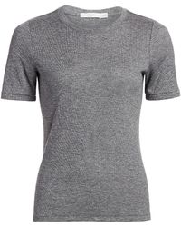 Rag & Bone The Rib - Knit Slim Tee - Black