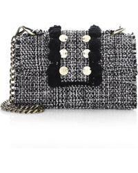 Kooreloo New Yorker Soho Tweed Crossbody Bag - Black