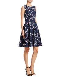 Carolina Herrera - Floral-print Knit Dress - Lyst