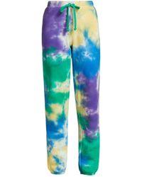 Warm Tie-dye Drawstring Sweatpants - Green