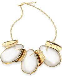 Alexis Bittar - Lucite Circle Bib Necklace - Lyst