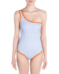 Fendi - One-shoulder One-piece Swimsuit - Lyst